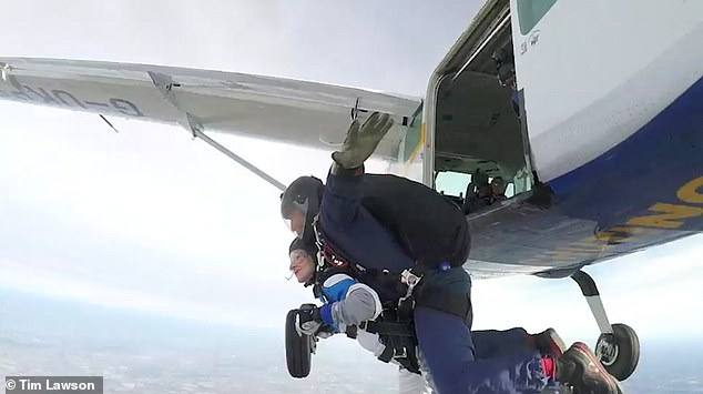 Emile had told Victoria at one point: ¿Just because your ex-husband cheated on you doesn¿t mean you can be paranoid with me.' Pictured: Victoria skydiving in 2018