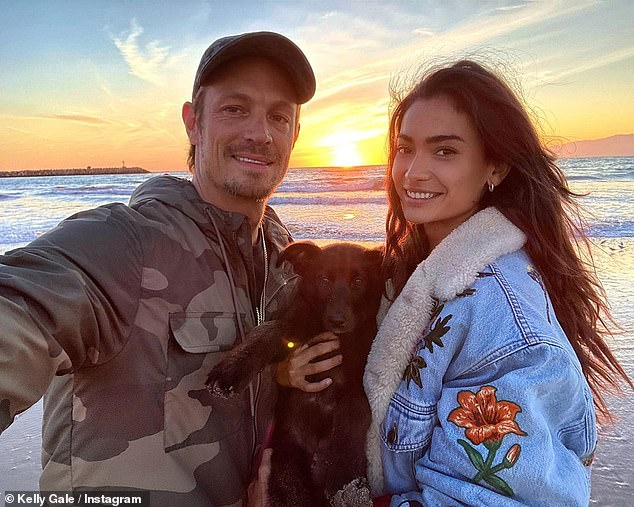 Close:Kelly is dating Joel Kinnaman, 40, (left) and the pair debuted their romance at Coachella music festival in April 2019