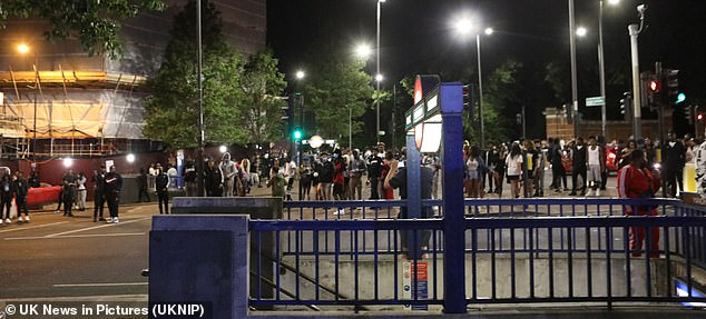 Scotland Yard said police were alerted by locals to the 'unlicensed music event' after vowing to 'robustly and swiftly' deal with disorder
