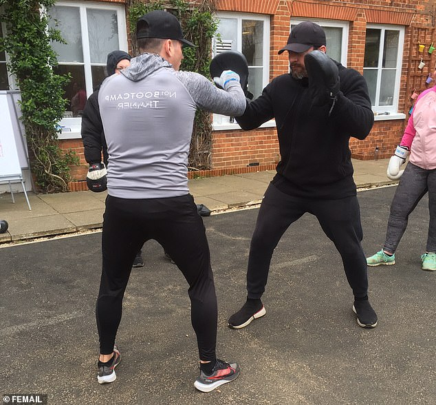 Boxing seemed to be everyone's favourite session and was a bit more relaxed than the earlier, more intense workouts
