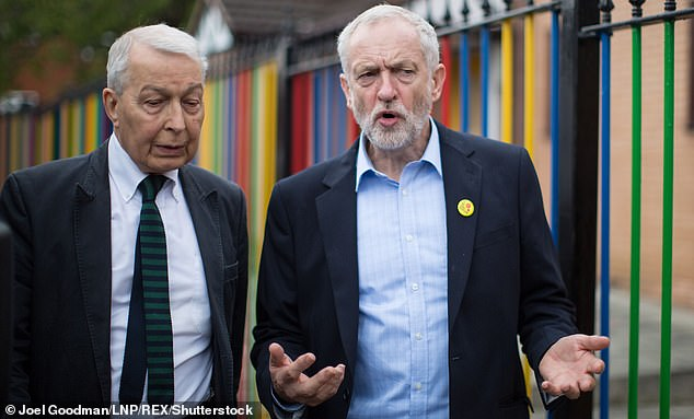There will be a number of Brexit-supporting politicians honoured including ex-Labour MPs Gisela Stuart and Frank Field (pictured left with then Labour leader Jeremy Corbyn)