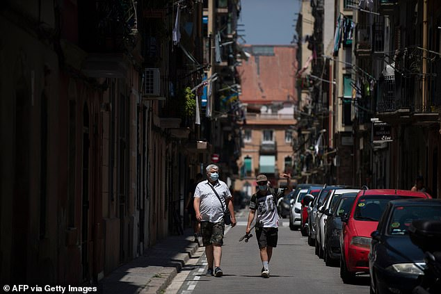 Barcelona's streets were empty over the weekend as the the Catalan regional government decided to put the city into a 'voluntary lockdown' to a spike in cases