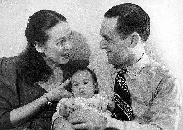 'Born out of a lie': Baby Oliver with his parents in New York in 1946. My past, my 15 years on Earth, was a 'fake past' – a delusion. It wasn't always like that