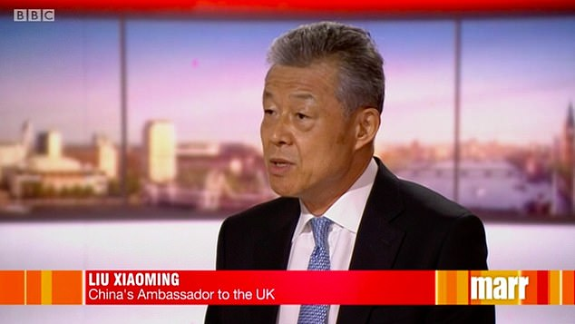 Liu Xiaoming, China's Ambassador to the UK, said the decision to ban Huawei from the UK's 5G network represented a 'dark day' as he also dismissed accusations made against the Chinese government of human rights abuses