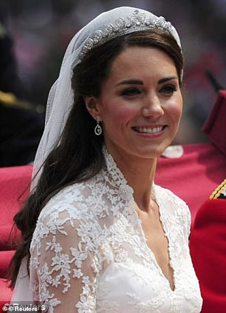 Kate Middleton wore the Cartier 'halo' tiara for her wedding