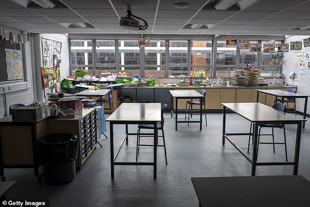 The Department for Education said schools will also benefit from the Government's £1billion Covid-19 catch-up package to make up for lost teaching time due to the global pandemic