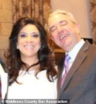 Judge Esther Salas and her husband Mark Anderl are pictured in a photo from 2015