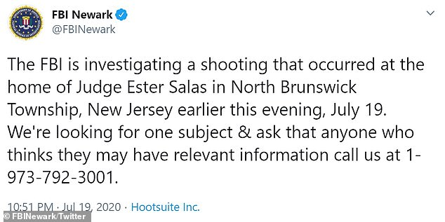 So far, police have not announced any arrests or named any suspects, however the FBI tweeted it was looking for 'one subject' in the shooting