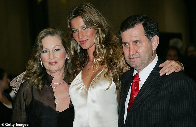 Young Gisele: With her parents at the Taxi film premiere in 2004 in New York City