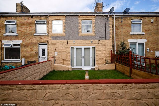 The childhood home of footballing legends Bobby and Jack Charlton, in Ashington, Northumberland, is pictured yesterday