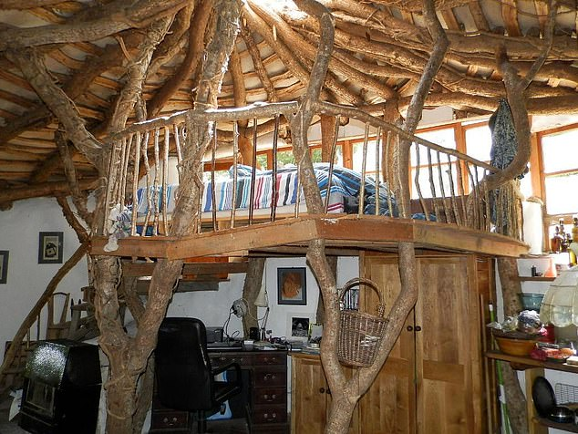 The Hobbit hideaway has an open-plan interior. The house sources its water from a nearby natural spring