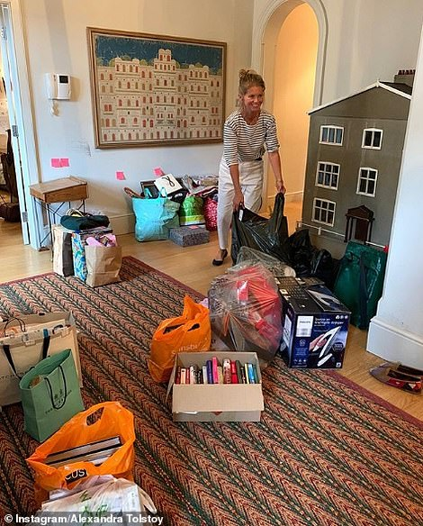 Decluttering mode! Alexandra recently cleared out the playroom three weeks before having to move out, saying she was determined to have a tidy space for their last days in the home