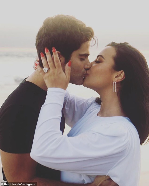 Demi Lovato announces she is ENGAGED to beauMax Ehrich