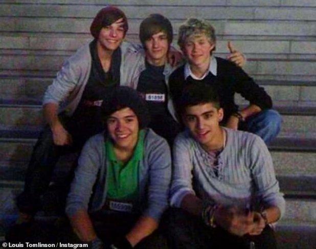 Way Back When: The 27-year-old Irish singer rose to fame as a fifth of the group, consisting of Harry Styles, 27, Liam Payne, 27, Zayn Malik, 28, and Louis Tomlinson, 29, on The X Factor in 2010. - the band has been on hiatus since 2016 as they all launched solo careers (pictured from 2010)