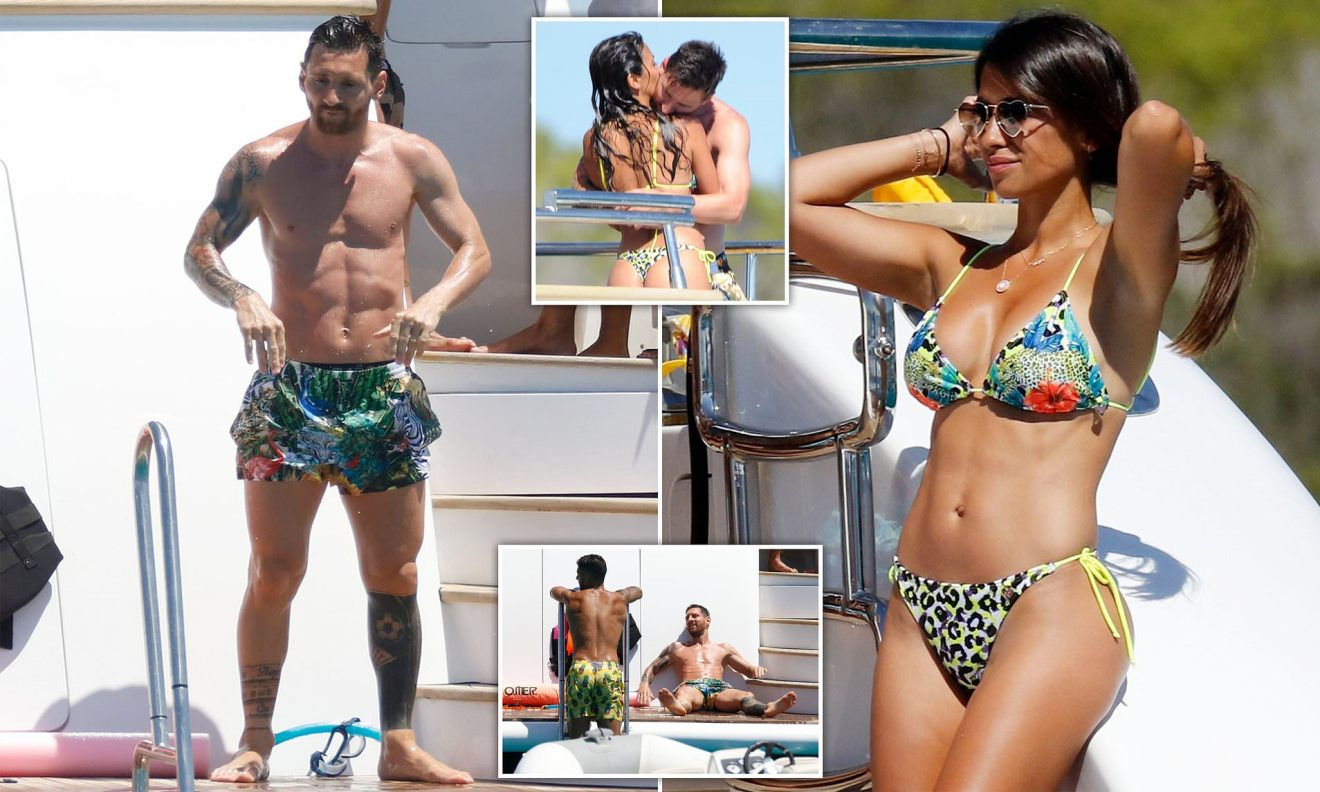 Lionel Messi and Luis Suarez enjoy Ibiza holiday together with ...