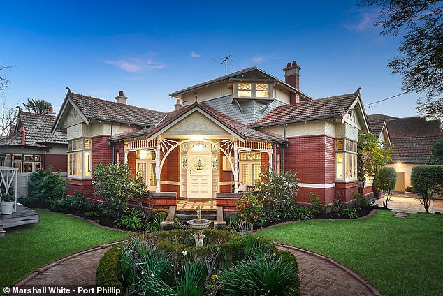 Sold: She told the Herald Sun putting their five-bedroom St Kilda West property on the market at the start of the Covid-19 pandemic was a 'difficult time'