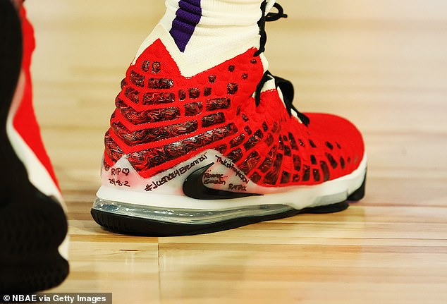 LeBron James had '#Justice4BreonnaT' written on his sneakers as his Los Angeles Lakers lost an exhibition to the Dallas Mavericks at the NBA's bubble outside Orlando on Thursday