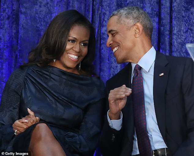 A chat with hubby: Her first guest on July 29 was her husband, former President Barack Obama