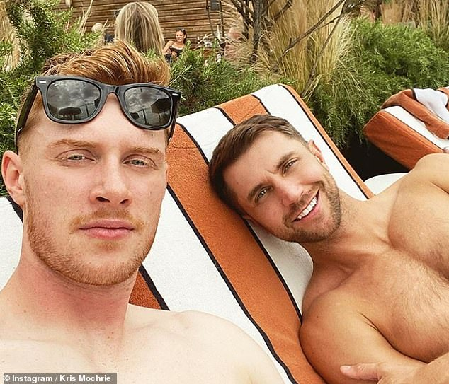 Romance? Emmerdale's Max Parker (pictured left) and Kris Mochrie are reportedly dating after playing brothers on the soap