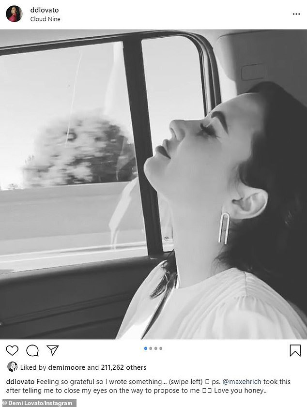 Living a miracle: Demi Lovato looked peaceful in a short clip posted to Instagram on Friday. She used the occasion to commemorate two years since her 'miracle day' when she nearly died of an opioid overdose