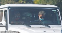Britney Spears seen in the passenger seat of an SUV while #FreeBritney movement carries on