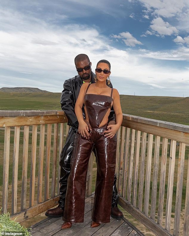 Supportive: Meanwhile it was also claimed that Kim is talks regularly with her husband while he stays at their Wyoming ranch as she is determined to help 'get him healthy'
