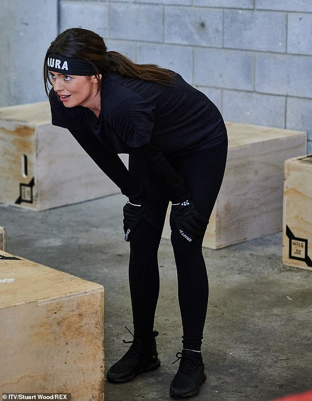 Challenge: Maura Higgins was put through her paces as she geared up to take part in the gruelling Spartan Race