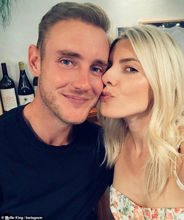 So proud! Mollie King was every inch the proud girlfriend as she congratulated her boyfriend on his Ashes success on Saturday afternoon