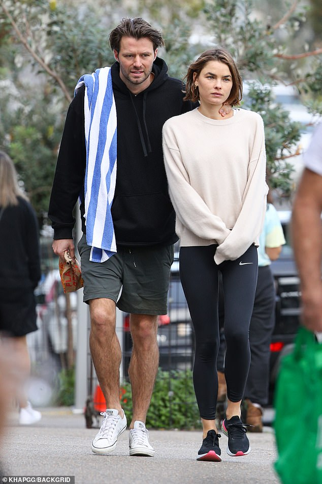 Meet Bambi's new man! Model Bambi Northwood-Blyth, 29, has found love in the arms of a hunky Australian actor Thomas Cocquerel, 30. Pictured together in Bondi last Saturday