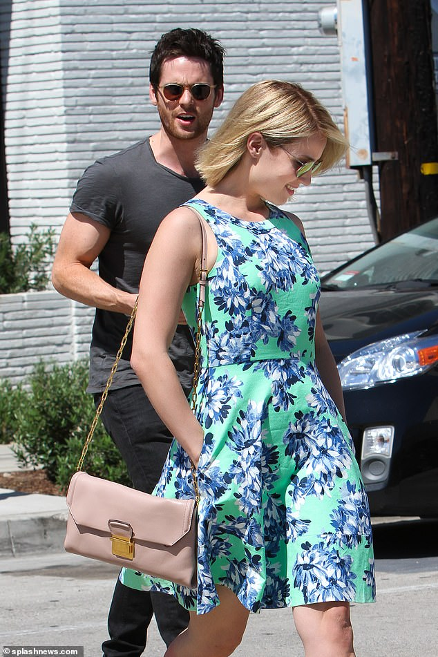 Famous flame: After splitting from Lily, he went on to date Glee Star Dianna Agron (right) for nine months