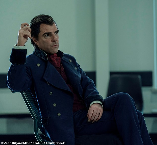 TV Star: Quinto is currently playing the role of immortal villain Charlie Manx in the supernatural horror drama series NOS4A2, which debuted its second season on AMV on June 21.