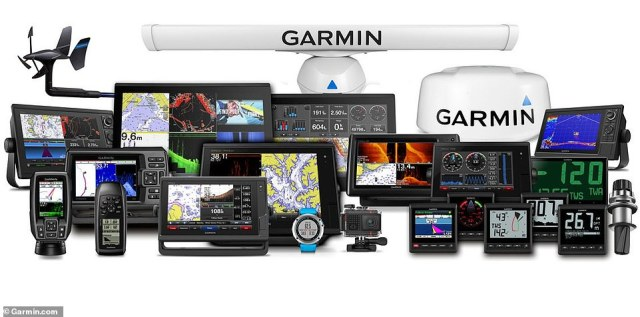 A selection of Garmin's most popular products is shown above in a file photo