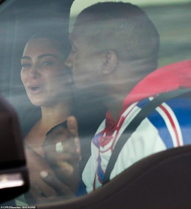 Marriage on the brink: The 39-year-old reality star appeared distressed and cried as she talked to Kanye, 43, in a vehicle following his political campaign rally and Twitter meltdown last week, where he discussed how they once considered having an abortion and hinted she had an affair with rapper Meek Mill, which Kanye has since publicly apologized for