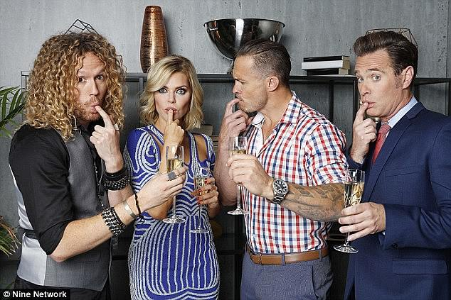 Famous faces: The last season of The Celebrity Apprentice aired back in 2015 and starred the likes of (left to right) Tim Dormer, Sophie Monk, Matt Cooper and Richard Reid