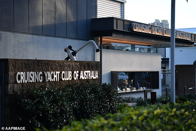 The couple had also spent time at the Cruising Yacht Club of Australia in Rushcutter's Bay which was alerted to the new cases on Tuesday