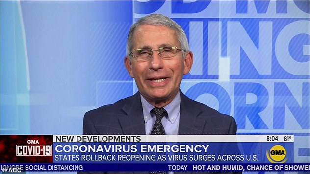 Dr Anthony Fauci dismissed Trump's Twitter frenzy on Monday night where he praised hydroxychloroquine in treating COVID-19, contrary to medical research, and said Fauci had 'misled' 'the country on the drug.  On Tuesday morning, Fauci said he neither tweeted nor read messages from the president.  `` I don't know how to fix it, '' Fauci said