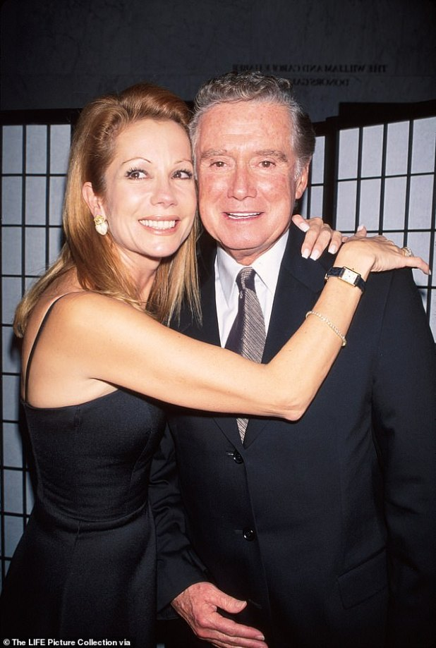 'I always knew Regis had my back': Kathy Lee Gifford spoke of 'protecting' co-host and friend Regis Philbin during a troubled time when she married husband Frank Gifford (painter 1999).