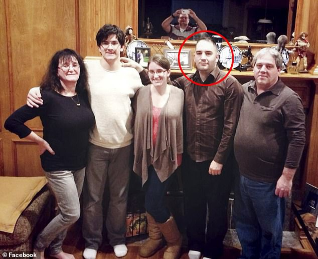 Heavy metal loving Perry is a comic book and video game fan who also likes to hunt and fish and his family is based in Dallas,Texas. He's pictured in a group photo with his parents and siblings