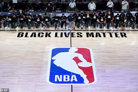 NBA Players, Coaches and Referees All Kneel in Protest of Racial Injustice During the National Anthem as the League Re-opens in the Disney Bubble