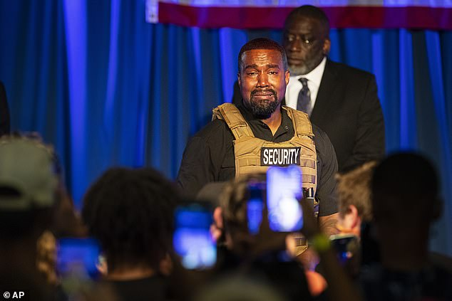 Kanye made his first presidential campaign appearance earlier this month in Charleston, South Carolina where he went on a rant and appeared emotional as he divulged highly personal information about his relationship with Kim