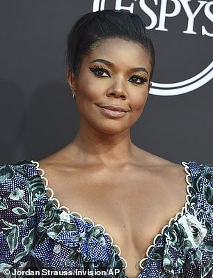 Telegedy is accused of threatening two former America's Got Talent judges, Gabrielle Union and Sharon Osbourne, for speaking out against NBC. Pictured: Union at thethe ESPY Awards, July 2019