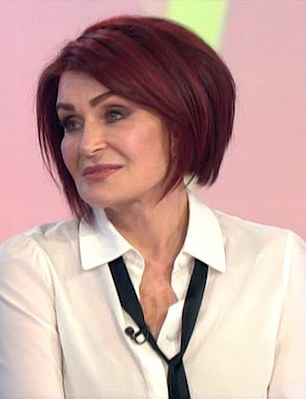 Telegedy is accused of threatening two former America's Got Talent judges, Gabrielle Union and Sharon Osbourne, for speaking out against NBC. Pictured: OSbourne on the talk show Loose WOmen