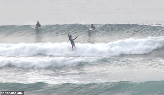 The surfers were briefly detained and later released but were fined $34 by authorities in Santo Domingo