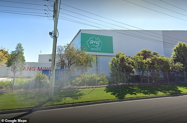 Three Australian Meat Group abattoir workers in Dandenong South (pictured) have tested positive to COVID-19