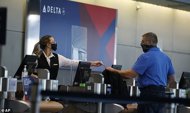 Last month,, Delta announced that it would require medical screenings for passengers who can't wear masks (stock)