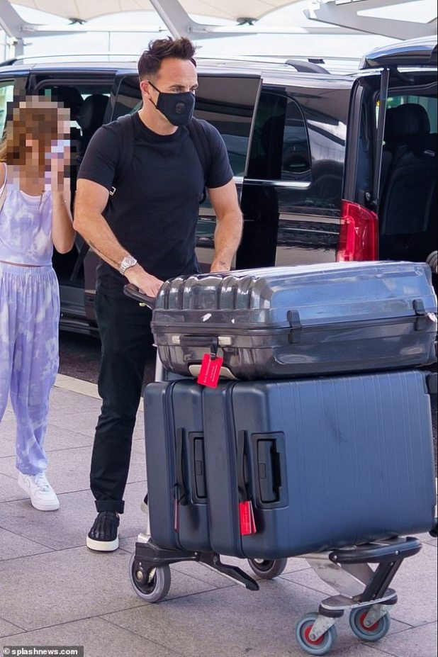 Schools out!Ant McPartlin arrived at Heathrow Airport on Saturday ready for a month-long summer holiday