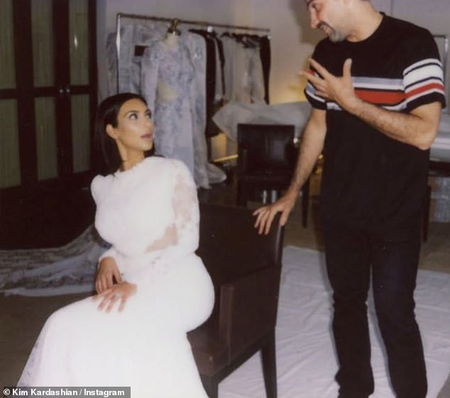 Fab: She included several pictures that showed the behind-the-scenes process of being decked out in her sumptuous white bridal gown