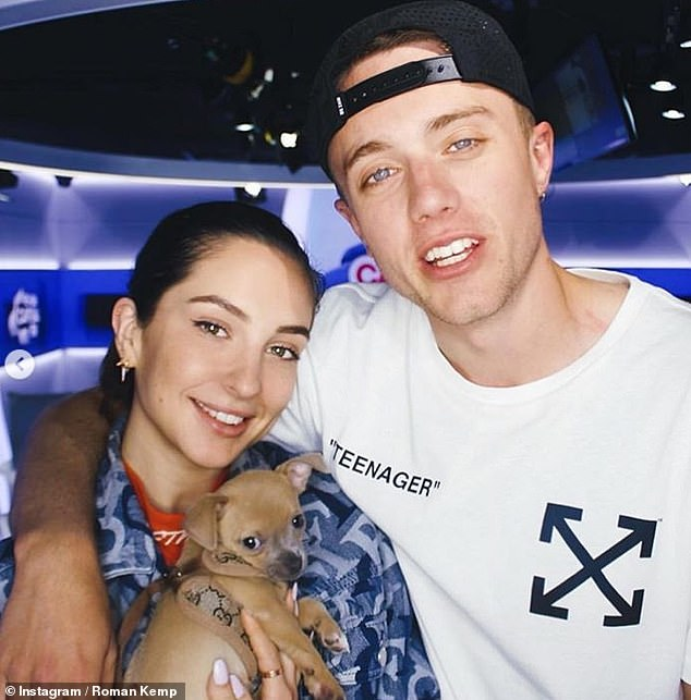 Are you moving on? Roman was revealed to have split from his three-year-old girlfriend Anne-Sophie Flury (pictured together) three weeks ago
