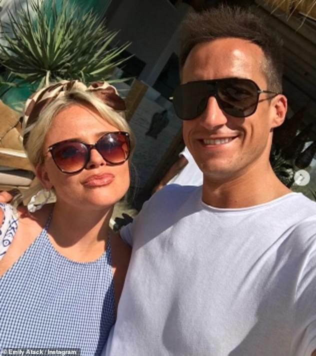 Split:Emily split from her ex-boyfriend Rob Jowers (pictured) in September after just six months of dating, and revealed in July that she had been Zoom dating during lockdown