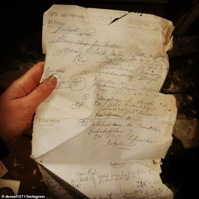 Remnants: Crumpled documents were eerie reminders of previous residents